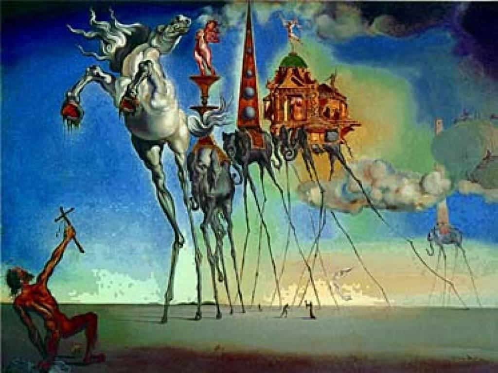Salvador Dali Elephant From The Temptation Of Saint