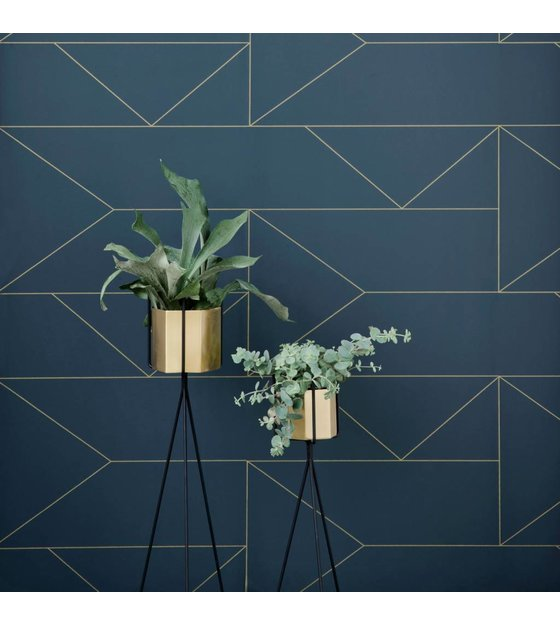 Ferm Living Pot Hexagon brass goud 18x16cm Extra large
