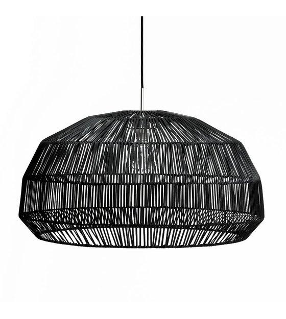 Ay Illuminate Hanglamp Nama 1 zwart rotan 72x365cm
