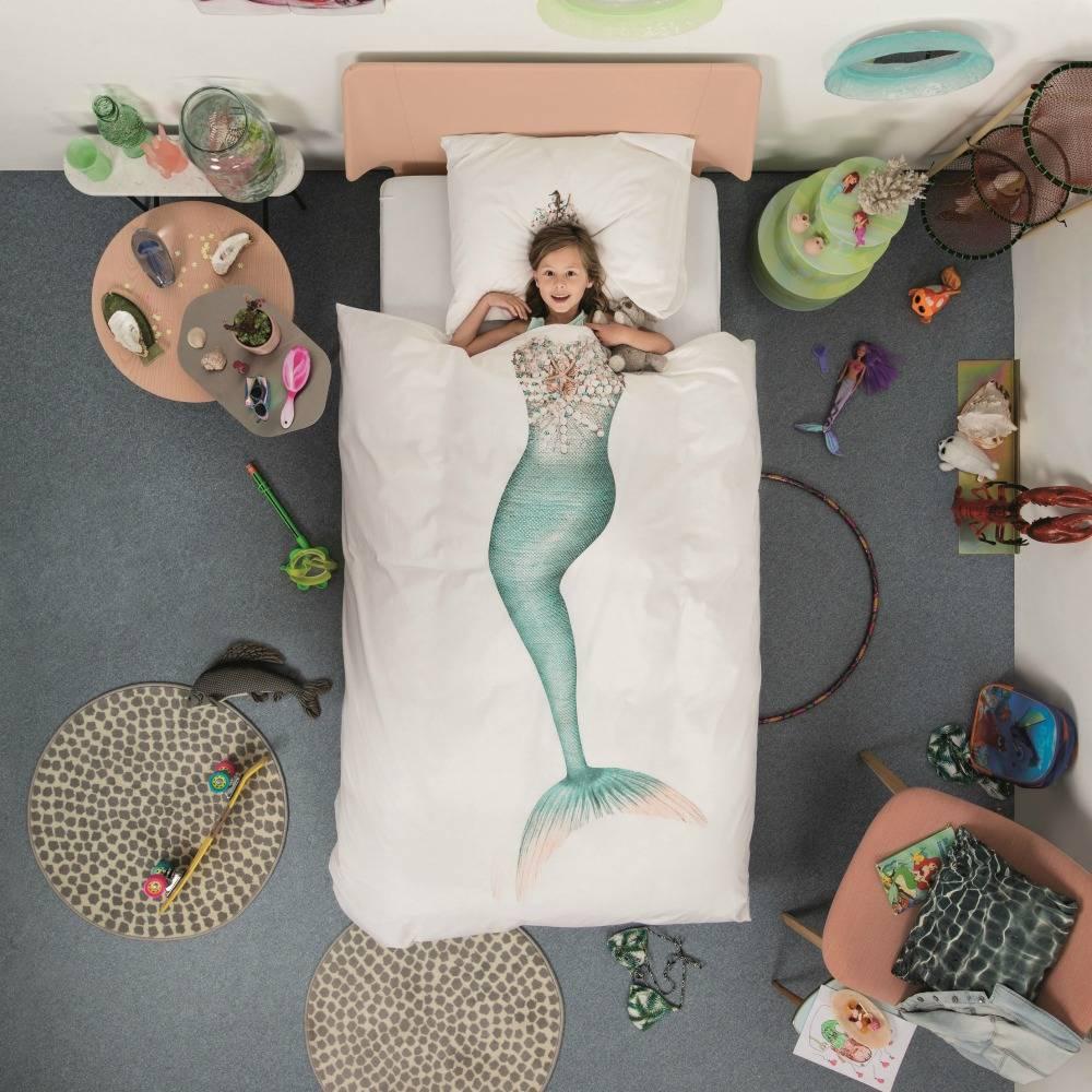 Snurk Beddengoed Dekbedovertrek Mermaid multicolour katoen