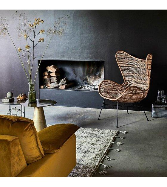 HKliving Stoel Bohemian naturel bruin rotan Egg chair
