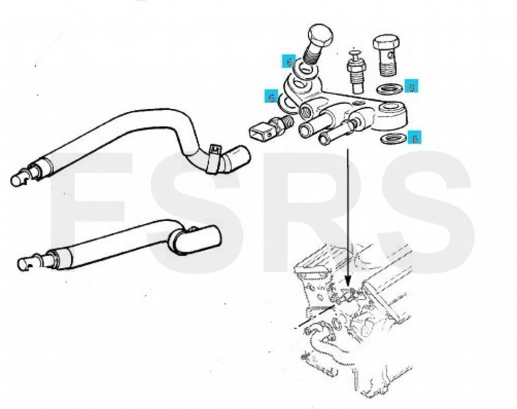 Afdichtring 16,2mm verwarmingstoevoerloopstuk Opel Calibra