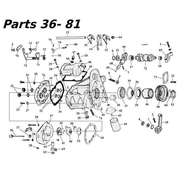 MCS 5-Gang Getriebe Teile 80-06 Shovelhead / Evo & Twincam