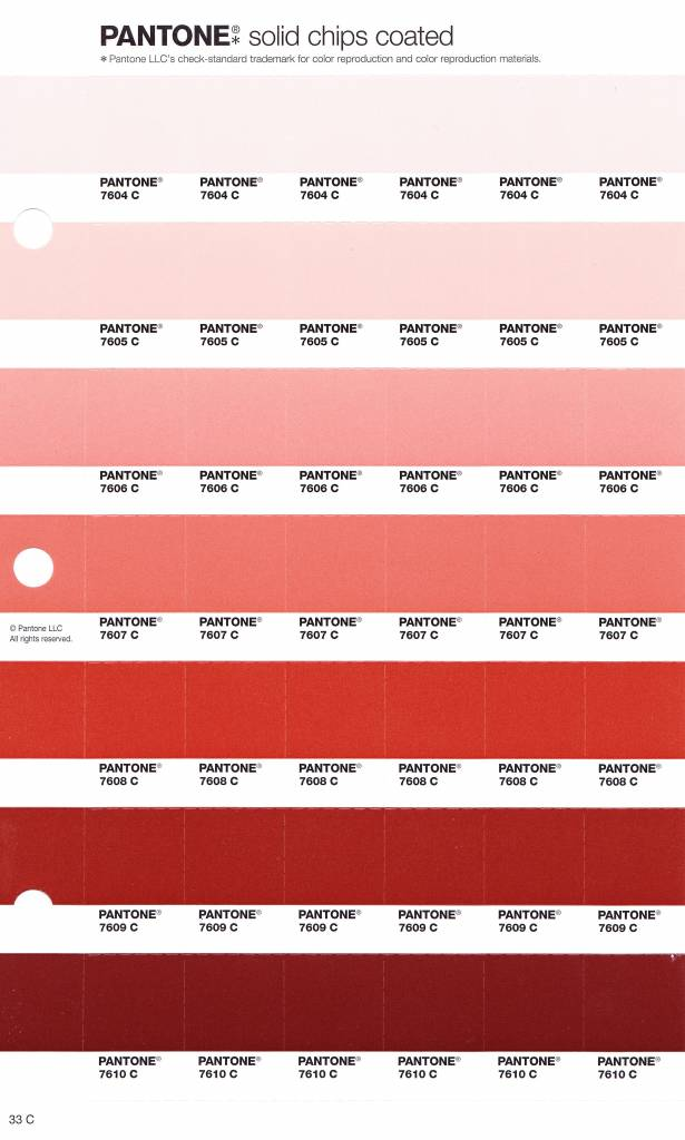 Pantone Solid Coated Color Chart