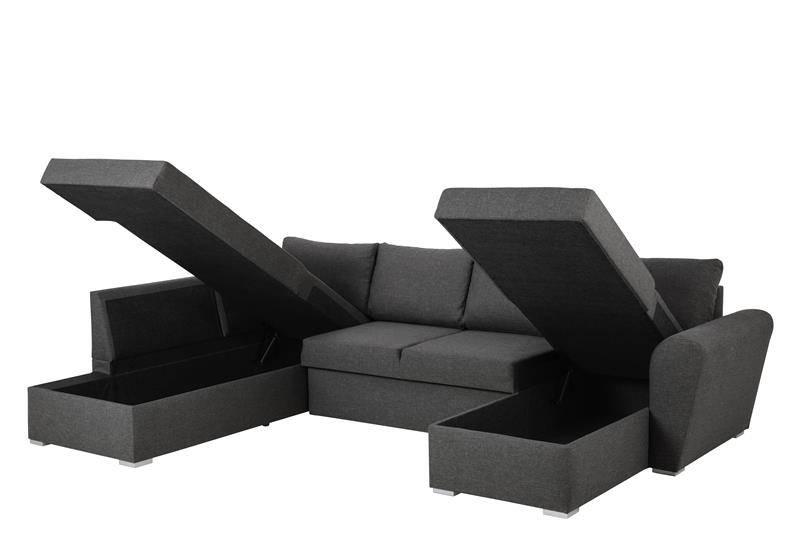 FYN Stan hoekzetel slaapbank met chaise longue rechts en