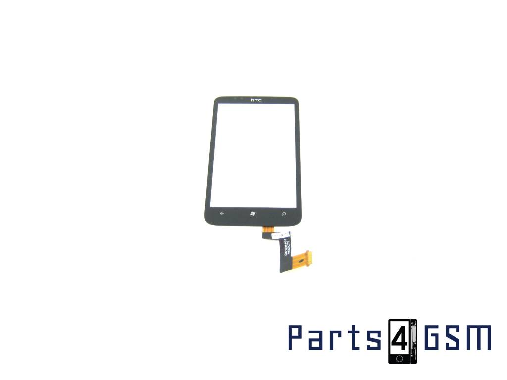 HTC 7 Trophy Touchpanel Glas, Buitenvenster Raampje Zwart