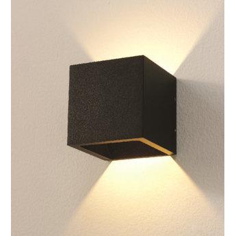 Bestel Hier Uw Design Wandlamp LED Cube ZWART IP54