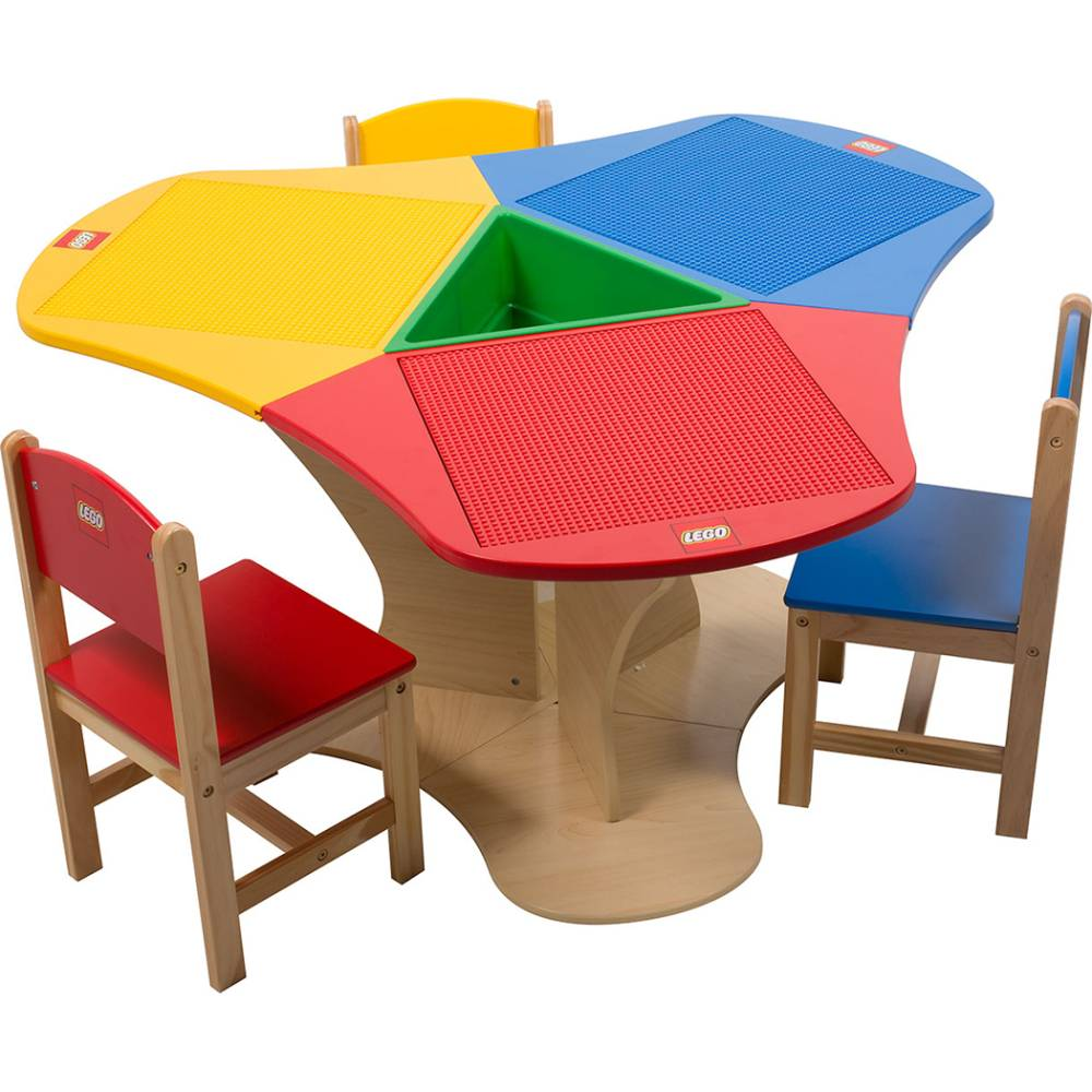 kidkraft table and chairs mesh drafting chair lego triangle with storage three - kinderspell