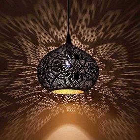 Filigrain lampen met gaatjes effect lamp voor oosterse