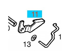 Lever brake shoe adjusting RH Opel Ascona / Astra / Corsa