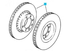 Kit front brake disc 256X24 Opel Astra-F Kadett-E Vectra-A