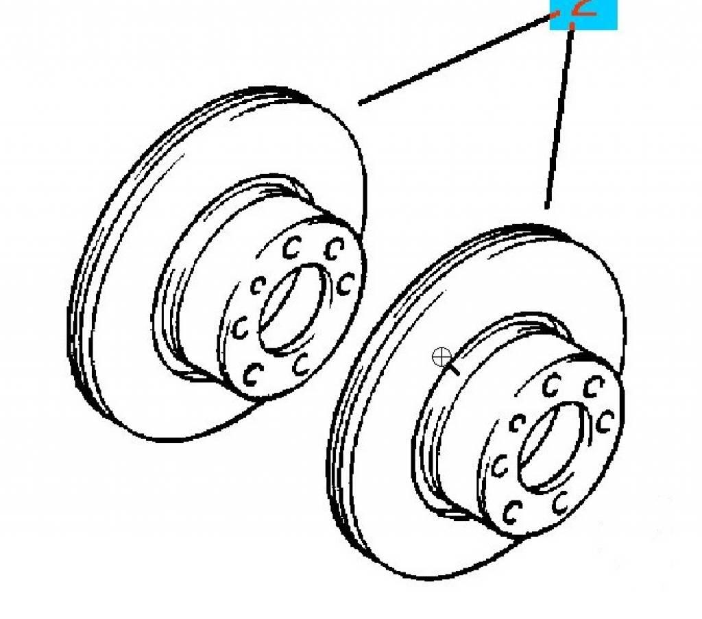 Kit front brake disc 236X12,7 Opel Ascona-C Astra-F Corsa