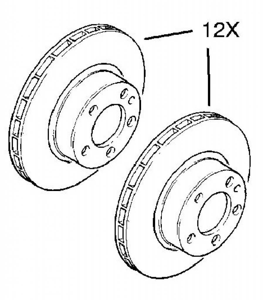 Kit front brake disc 286X24 Opel Omega-B 20SE X20SE X20XEV