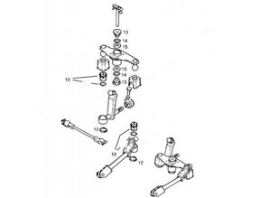 Repair kit gearshift linkage Opel Astra-F Calibra Kadett-E