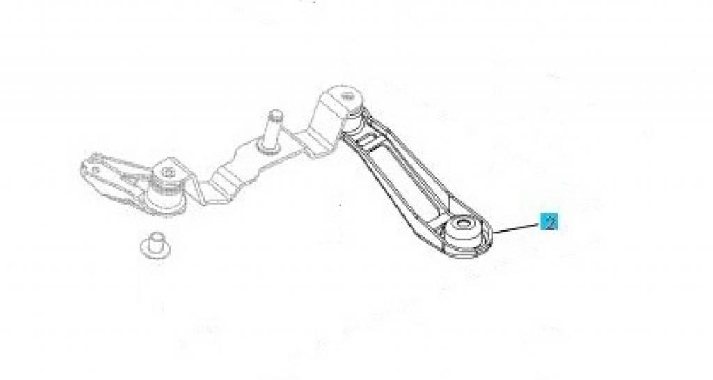 Bracket gearshift lever Opel Corsa-C Meriva-A Tigra-B