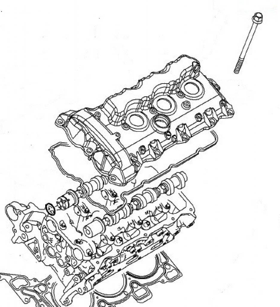 Screw cylinder head M11x152 Opel Antara Insignia Signum