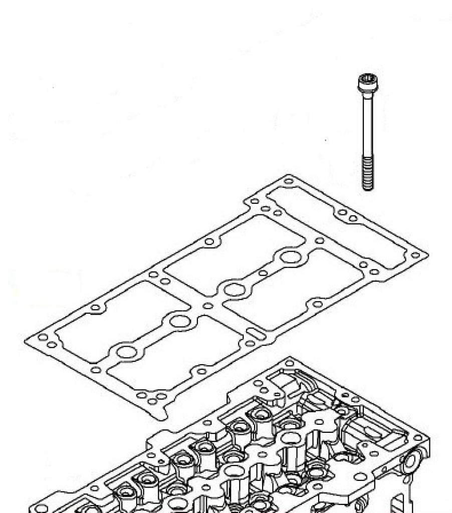 Screw cylinder head Opel Agila Astra Combo-D Corsa Meriva