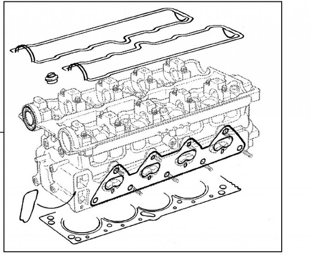 Gasket set cylinder head Opel Corsa-B / Tigra-A X16XE