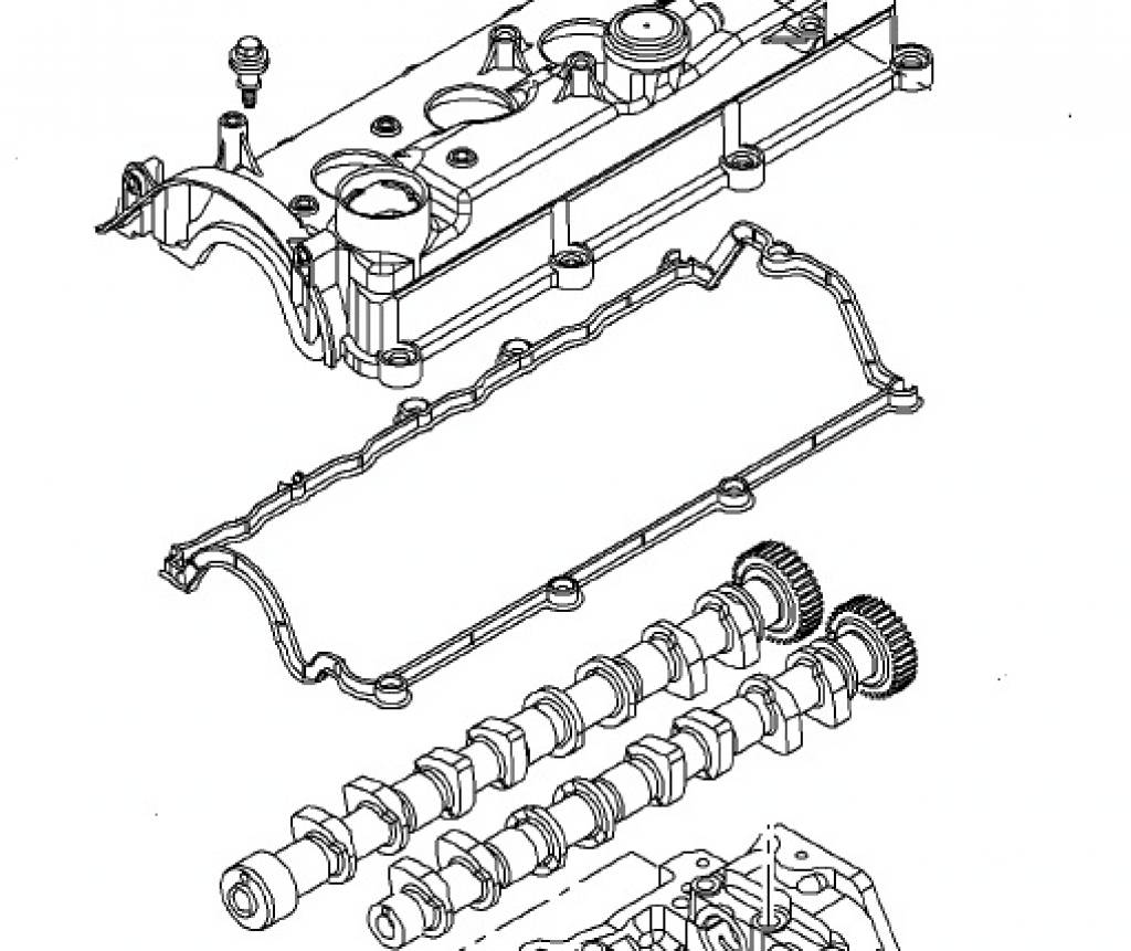 Klepdekselpakking Opel Astra-H / Astra-J / Corsa-D