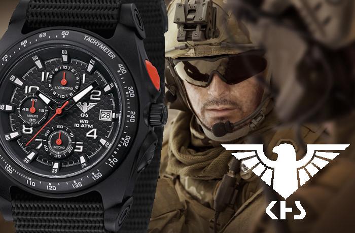 KHS Sentinel A Chronograph Militruhr mit Natoarmband