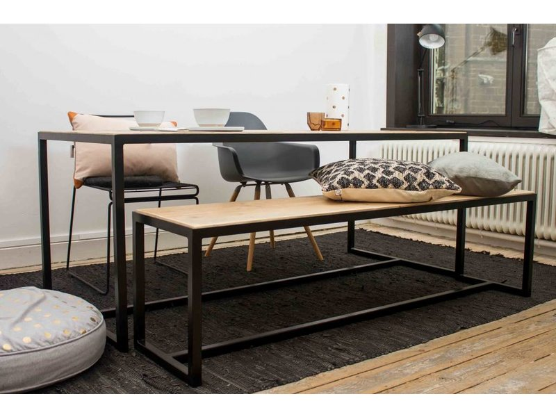 PURE wood design industriele tafel steigerhout met