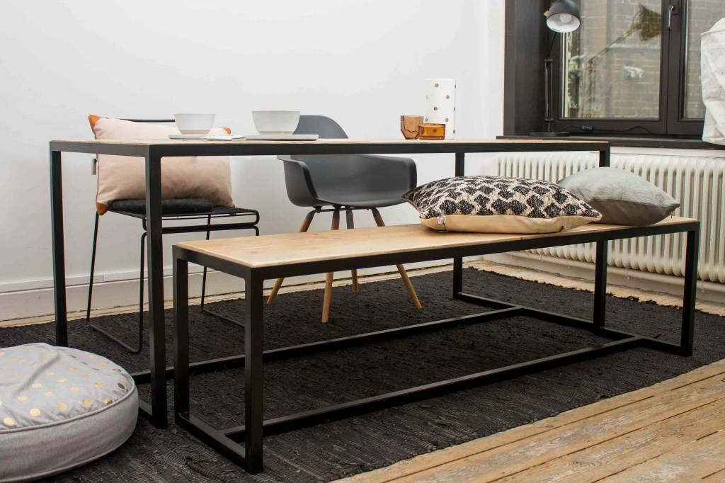 PURE wood design industriele tafel steigerhout met