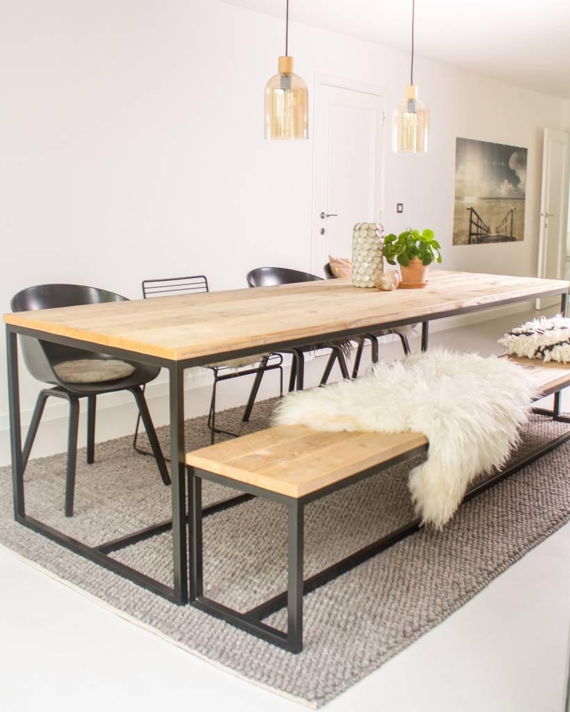 Brandal industriele tafel steigerhoutstalen frame