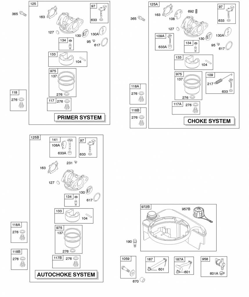 riggs and Stratton Carburateur 694882 met Primer functie