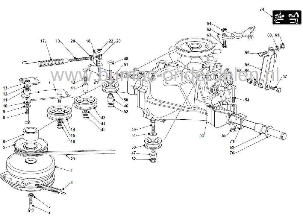 John Deere Stx 38 Wiring Diagram Veer Voor Het Op Spanning Brengen Van De V Snaar Bij