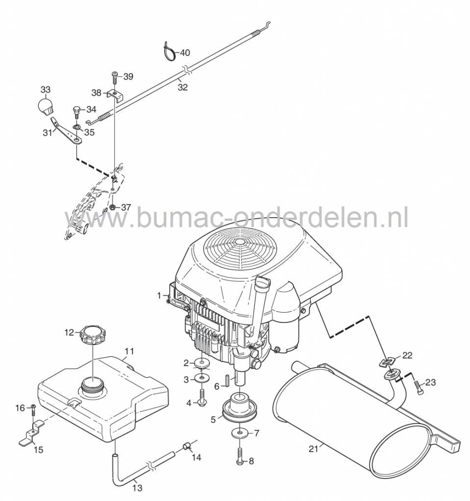 Lengte Buitenkabel 392 mm, Gaskabel voor Stiga Primo
