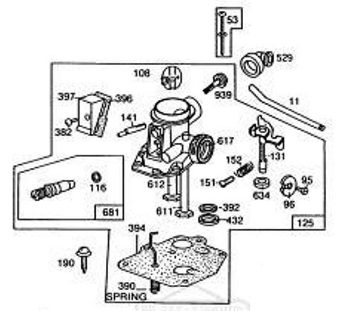 Membraan voor oude type B&S motor 3,5 en 4 Pk Sprint en