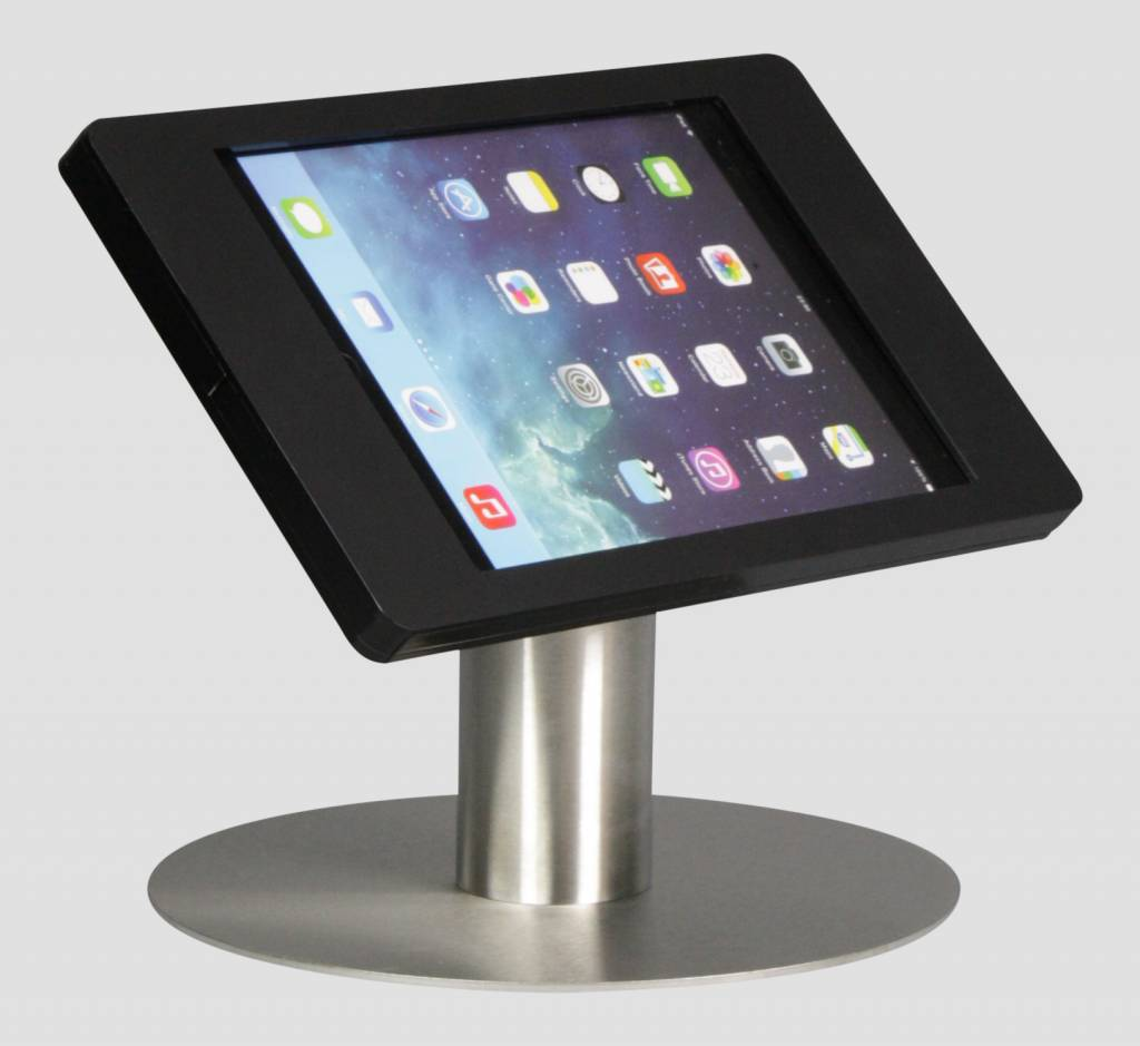 Ipad Mini Desk Stand Fino Black With Stainless Steel Base