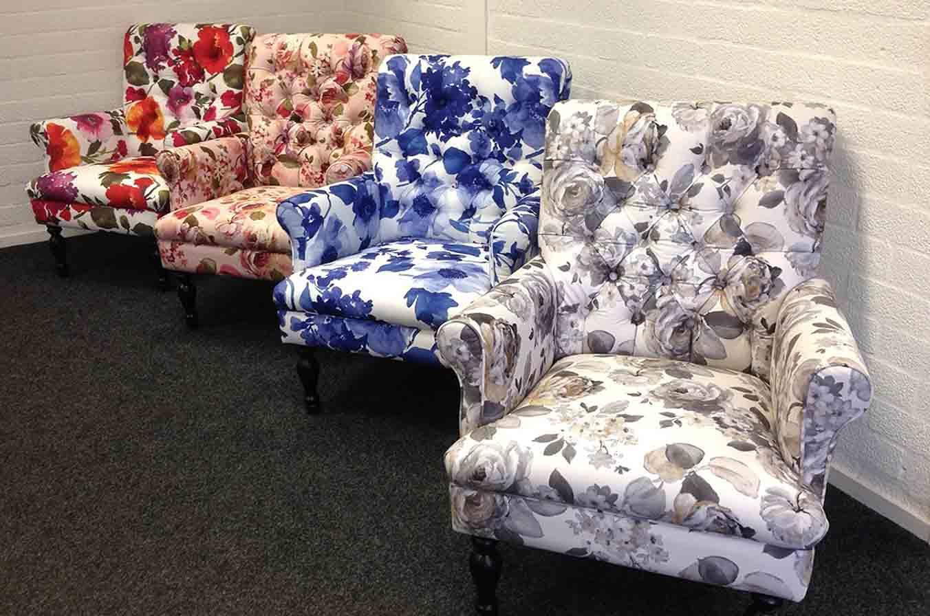 Grote fauteuil bloemen Patroonmotief NIEUW Zomerse