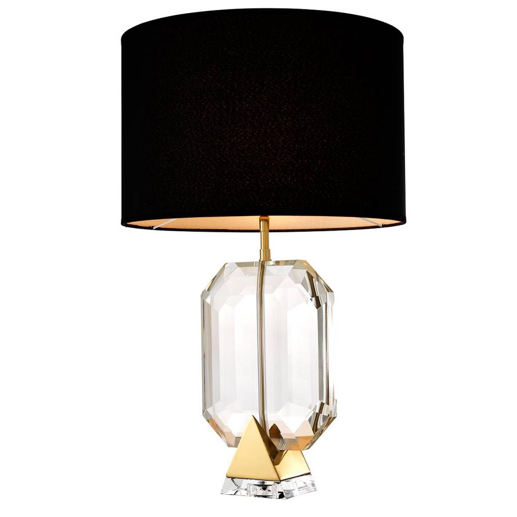EICHHOLTZ Table Lamp Emerald GOLD crystal glass