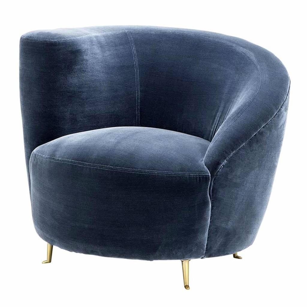 EICHHOLTZ Chair Khan Cameron faded blue Eichholtz
