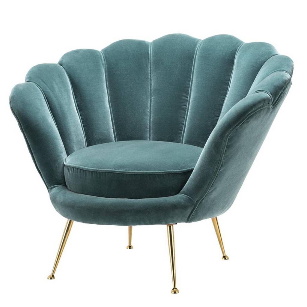 EICHHOLTZ Stoelen collectie Nieuwe stoele turquoise
