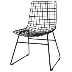 Wire Dining Chairs Plastic Chair Covers For Salon Hk Living Black Metal 47x54x86cm