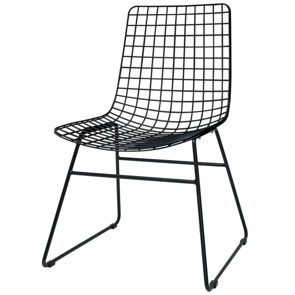 Black Wire Chair Hk Living Dining Chair Dining Wire Black Metal 47x54x86cm