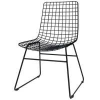 HK-living Dining chair Dining Wire black metal 47x54x86cm ...