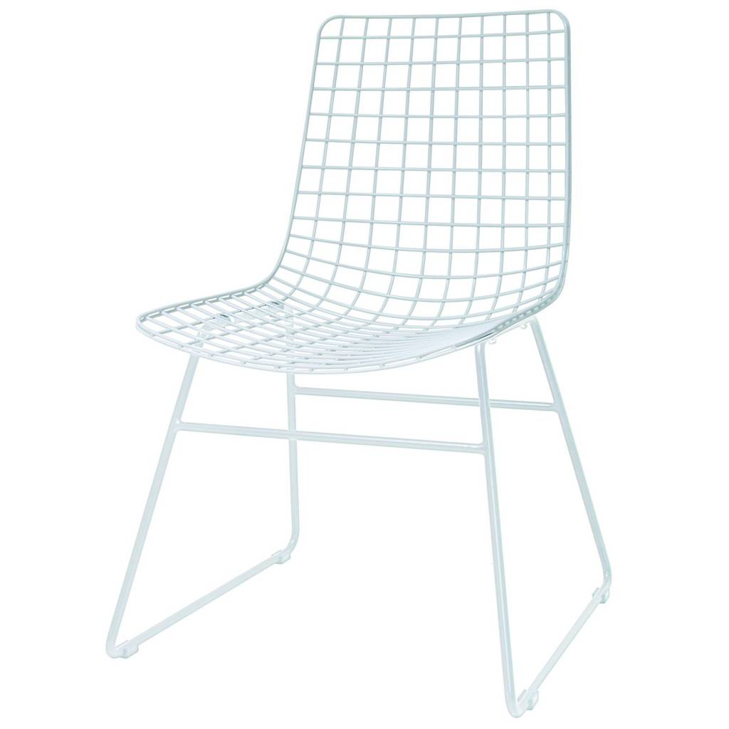 HKliving Dining chair Dining Wire white metal 47x54x86cm