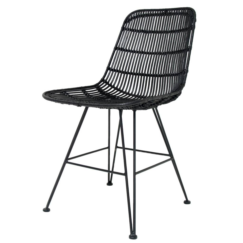 woven dining chair cloth high pattern hk living made of metal rattan black