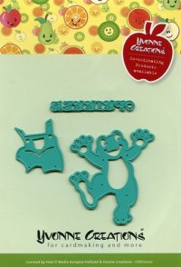 Embossing and cutting template, happy frog - Hobby, Crafts ...