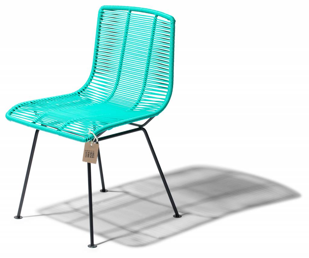 Aqua Dining Chairs Rosarito Handwoven Dining Chair Turquoise The Original