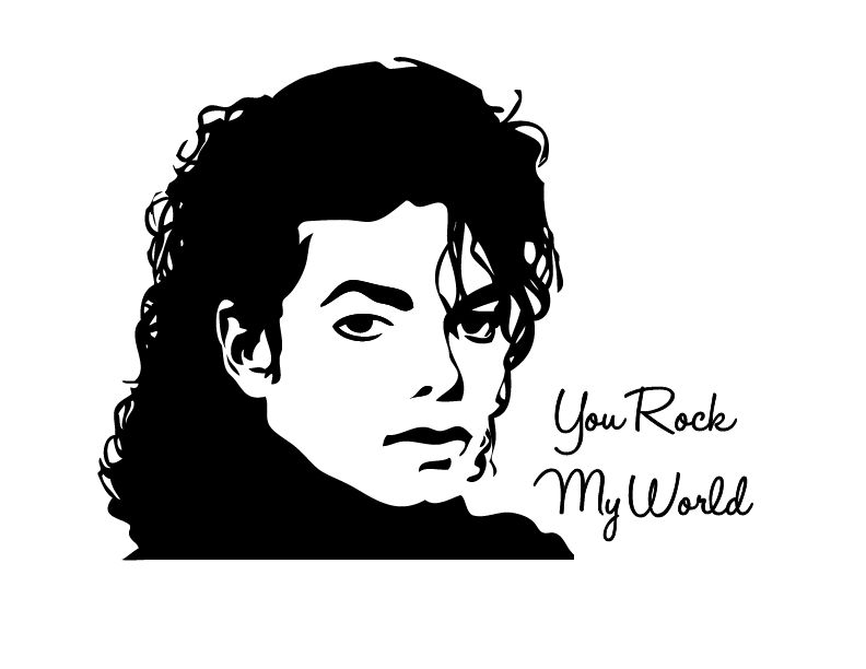 Wall Sticker Michael Jackson  Walldesign56 Wall Decals  Murals  Posters