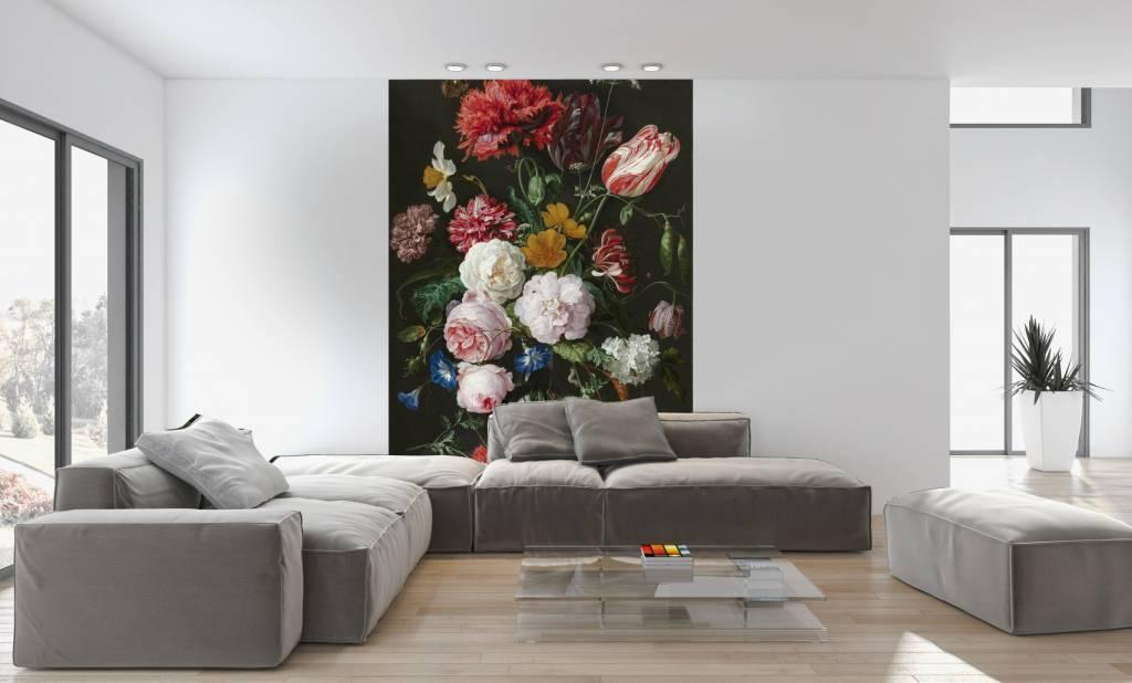 Zelfklevend Fotobehang Stilleven met bloemen in een glazen