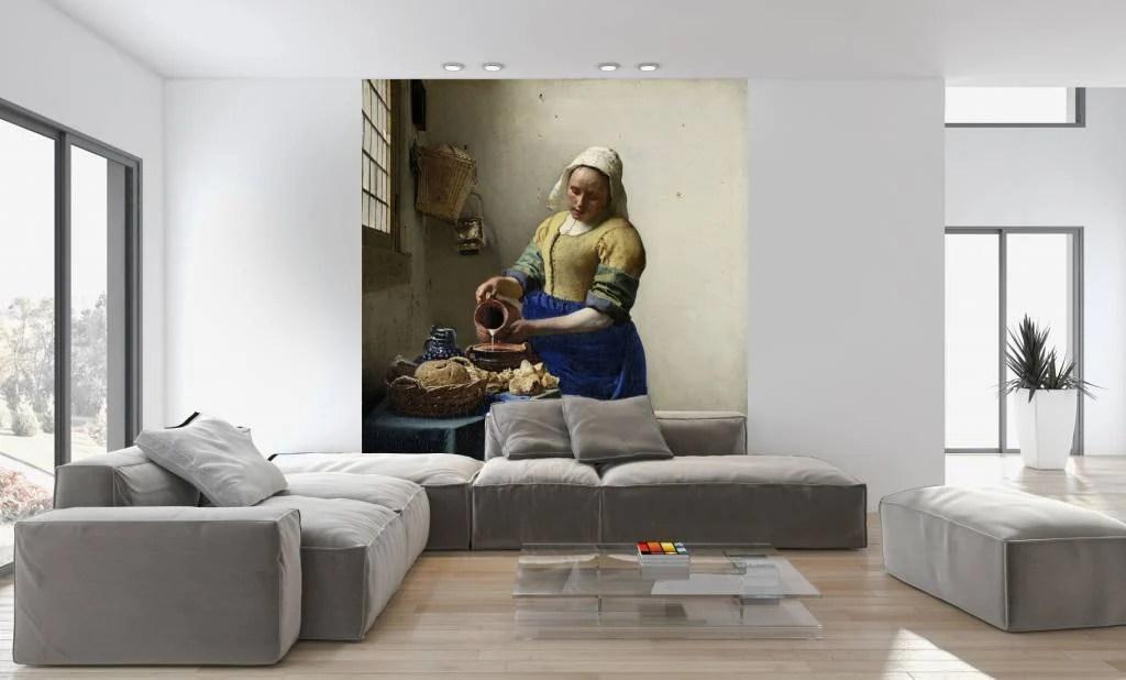 Fotobehang Het Melkmeisje  Walldesign56com