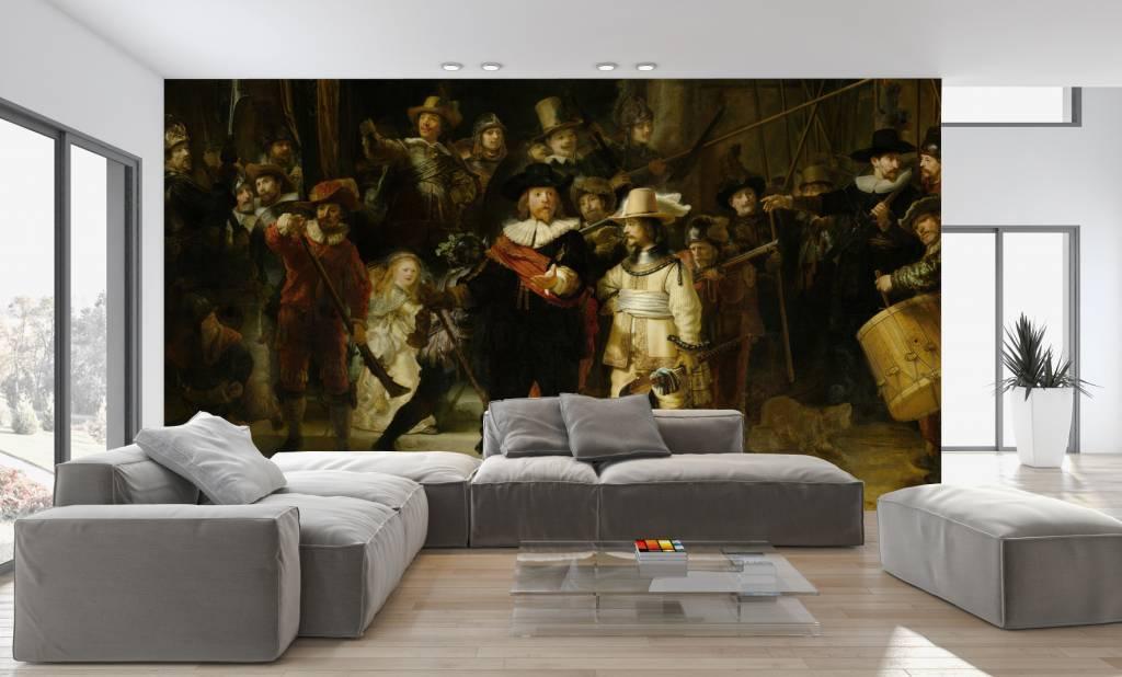 Zelfklevend Fotobehang De Nachtwacht  Walldesign56com