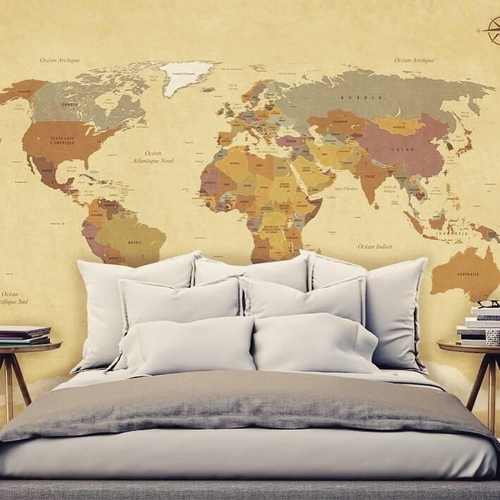 Fotobehang Wereldkaart Vintage  Walldesign56com