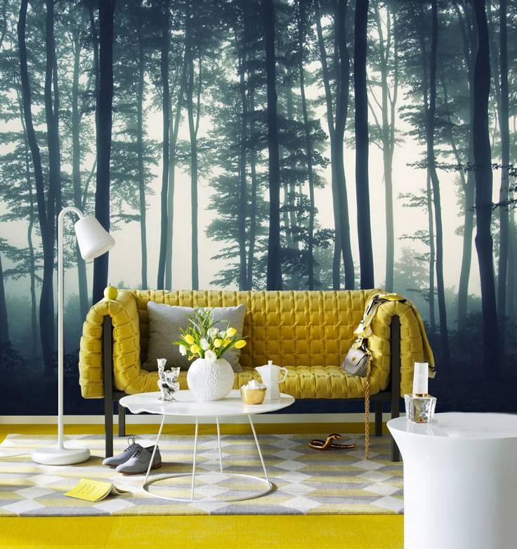 Fotobehang Bos in de Mist  Walldesign56com