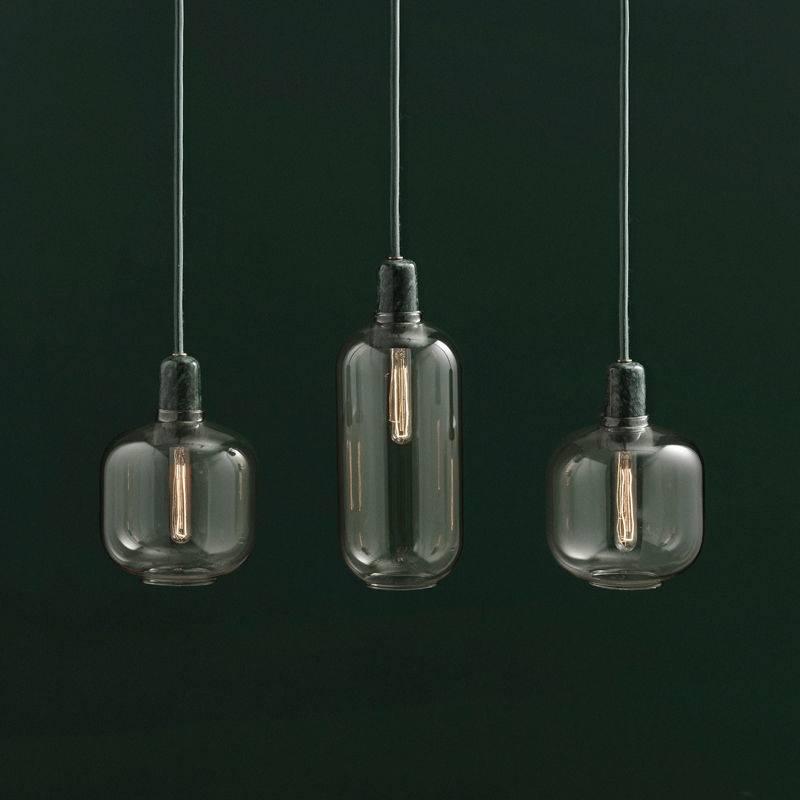Normann Copenhagen AMP Small hanglamp goud groen  LIVING
